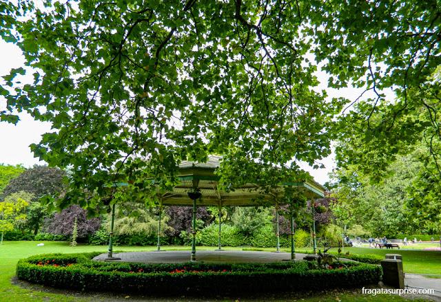 St. Stephen's Green, parque público no Centro de Dublin