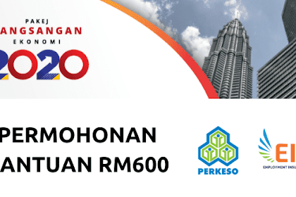 Panduan permohonan bantuan RM 600 PERKESO secara online