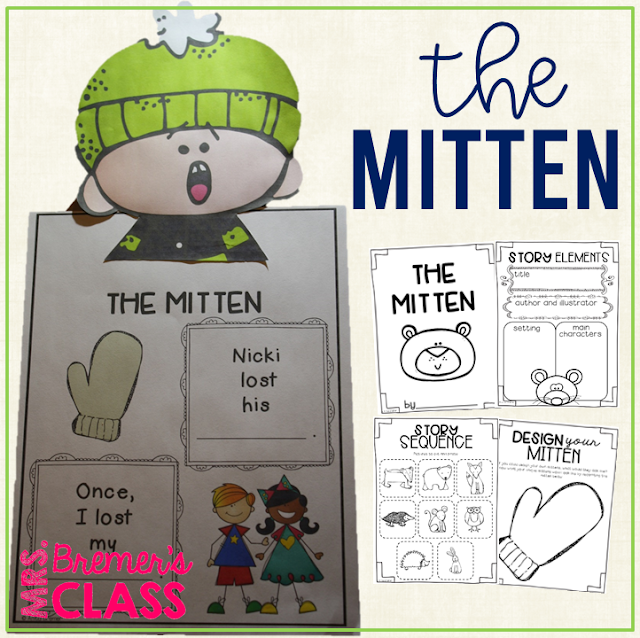 The Mitten book study companion literacy activities, perfect for a winter theme in the classroom! Packed with fun literacy ideas and guided reading activities. Common Core aligned. K-1 #bookstudy #bookstudies #kindergarten #1stgrade #winter #winterbooks #picturebookactivities #literacy #guidedreading #themitten #janbrett #bookcompanion #bookcompanions #kindergartenreading #1stgradereading