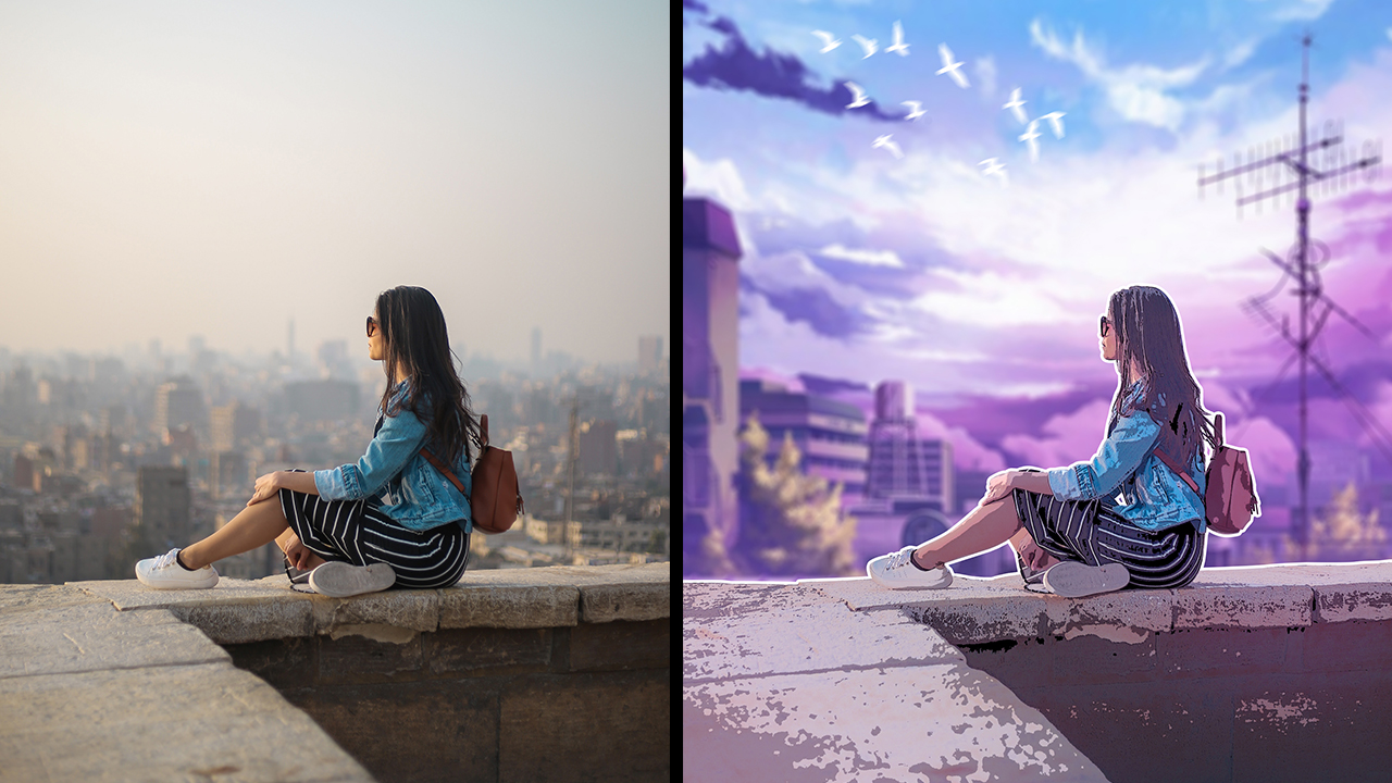 Turn Photo Into Anime Style Effect Photoshop Tutorial Rafy A