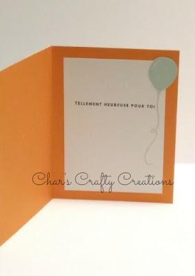 CTMH carte Félicitations promotion ballons Congratulations card balloons