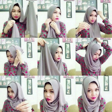 Cara Memakai Jilbab Lilit Hijab Converse