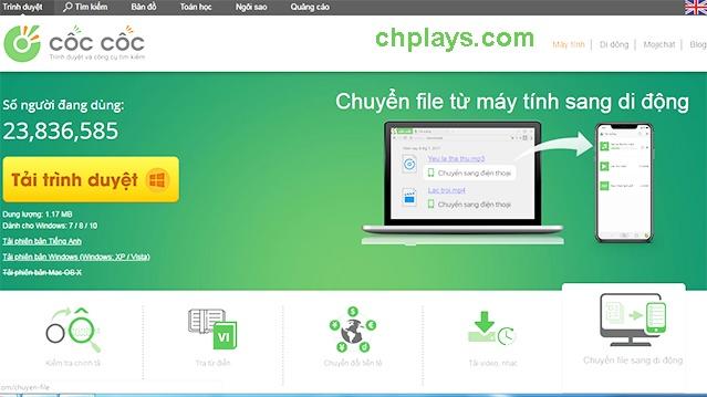 Download Cốc Cốc - Trình duyệt Cốc Cốc, lướt web, tải file nhanh, nhẹ 1