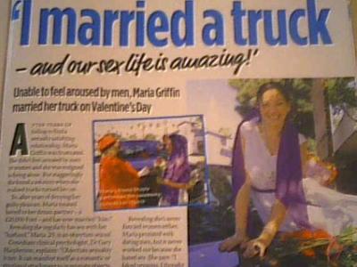 Maria Griffin  Menikah Dengan Mobil Truck