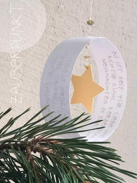 Weihnachtsgruss, Weihnachtsmobile, Weihnachtsgedanken, DIY-Karte, Weihnachtspost