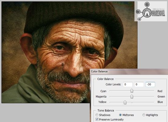 image adjustment color ballance - tutorial cara membuat efek smudge painting di photoshop