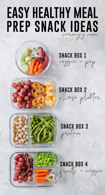 EASY & HEALTHY MEAL PREP SNACK IDEAS