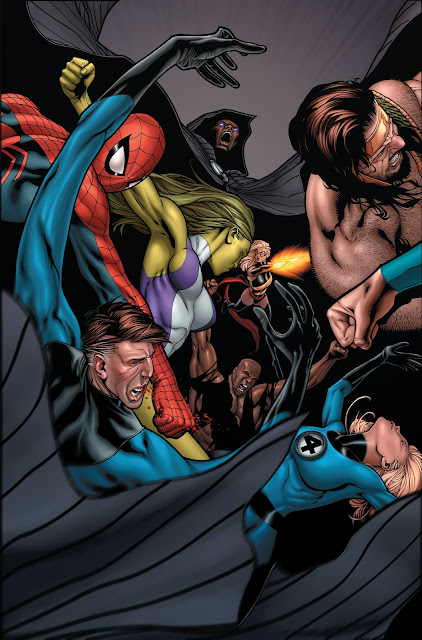 Superheroes fighting each other in Marvel's Civil War 2006 Issue #7
