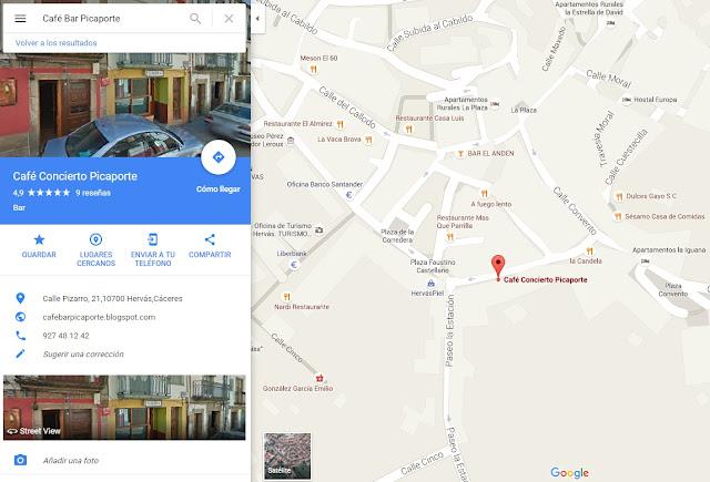 Mapa de Café Bar Picaporte