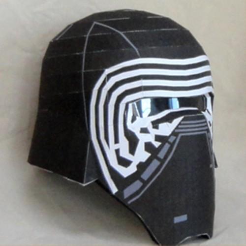 Star Wars Papercraft Kylo Ren Helmet