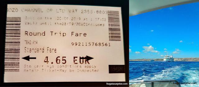 Travessia para a Ilha de Gozo, em Malta