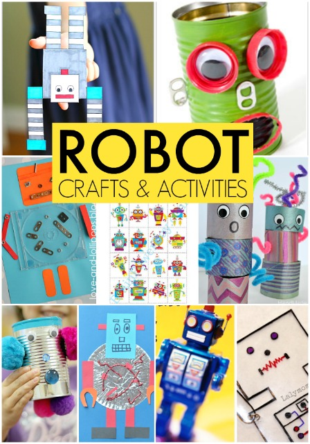 robot activities and crafts for kids