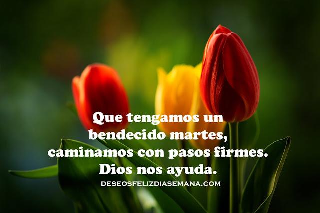 frases de feliz martes con bendiciones de Dios