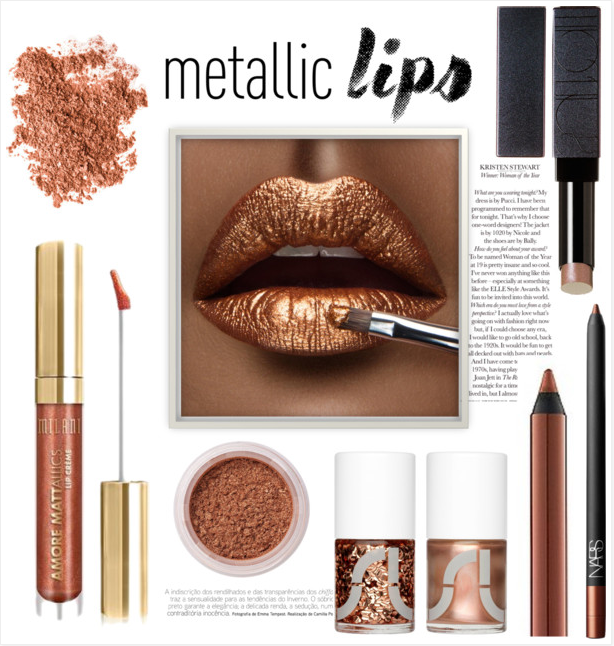 how-to-wear-metallic-lips-copper