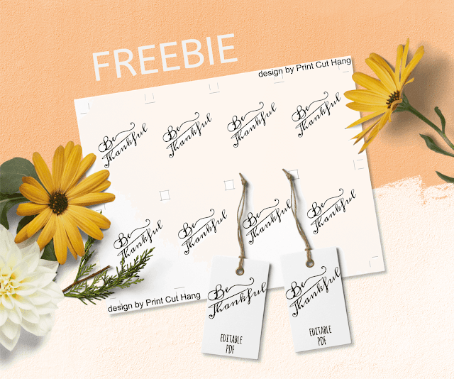 Free Thanksgiving tags