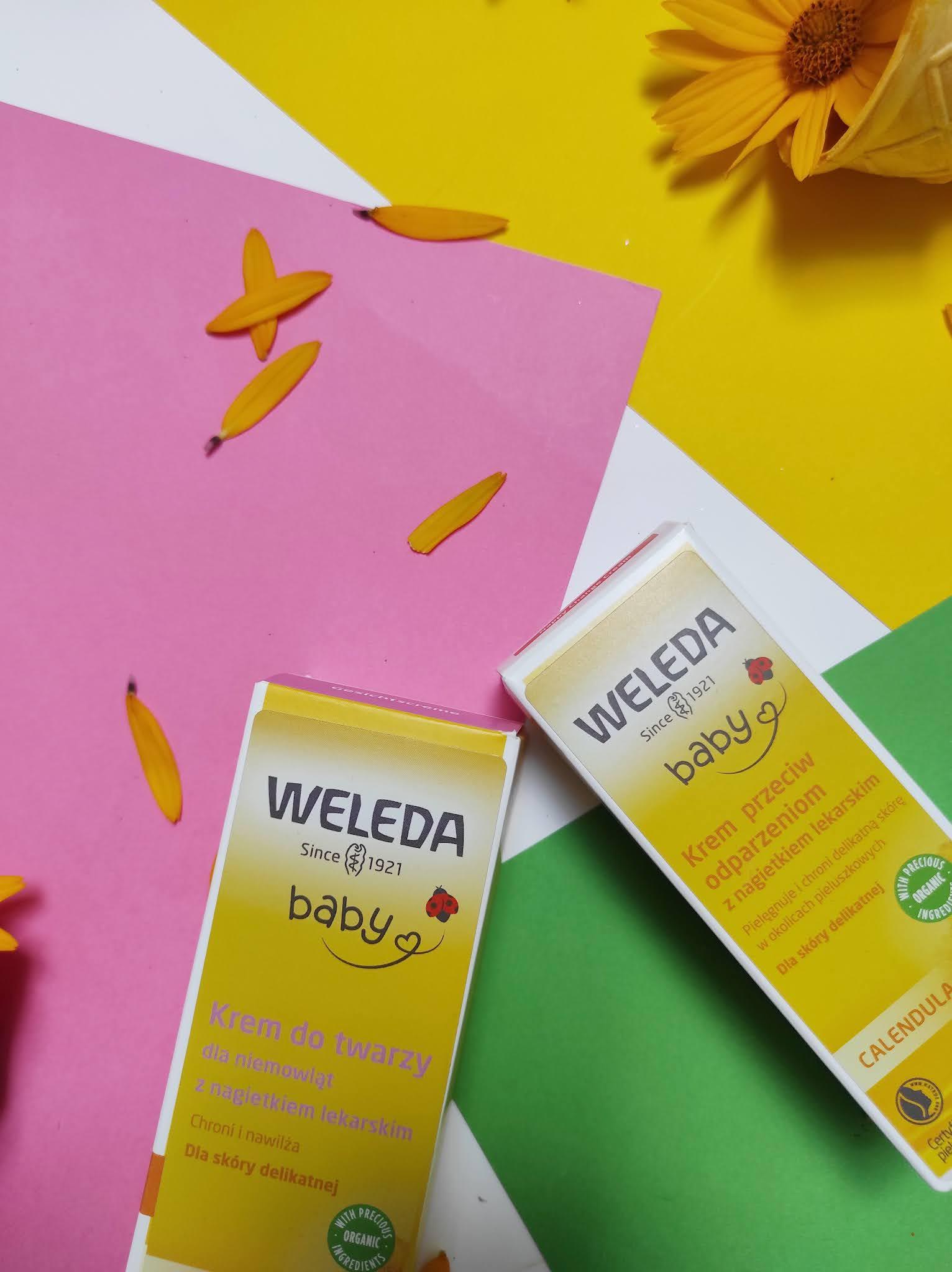 Weleda Baby - krem do twarzy i krem przeciw odparzeniom z nagietkiem lekarskim. Test z portalem Familie.pl