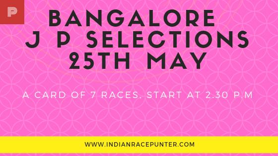 Bangalore Jackpot Selections 25th May, trackeagle, racingpulse