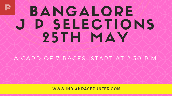 Bangalore Jackpot Selections 25th May