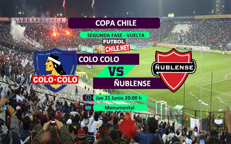Mira Colo Colo vs Ñublense en vivo y online por la segunda fase vuelta de la Copa Chile 2018