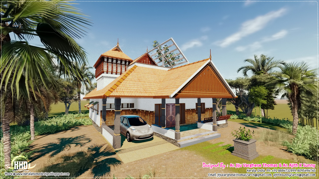 Traditional Kerala House In 1200 Sq Feet House Design Plans