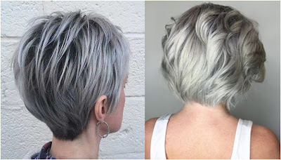 White and Gray Ombre Hairstyle - Hairstyles For Gray Hair Over 60