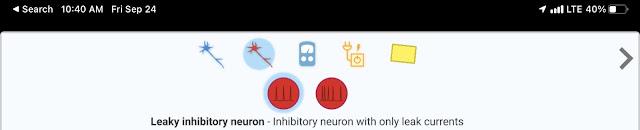 Leaky inhibitory neuron