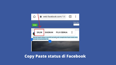 Cara Copy Paste Status Orang Di Facebook