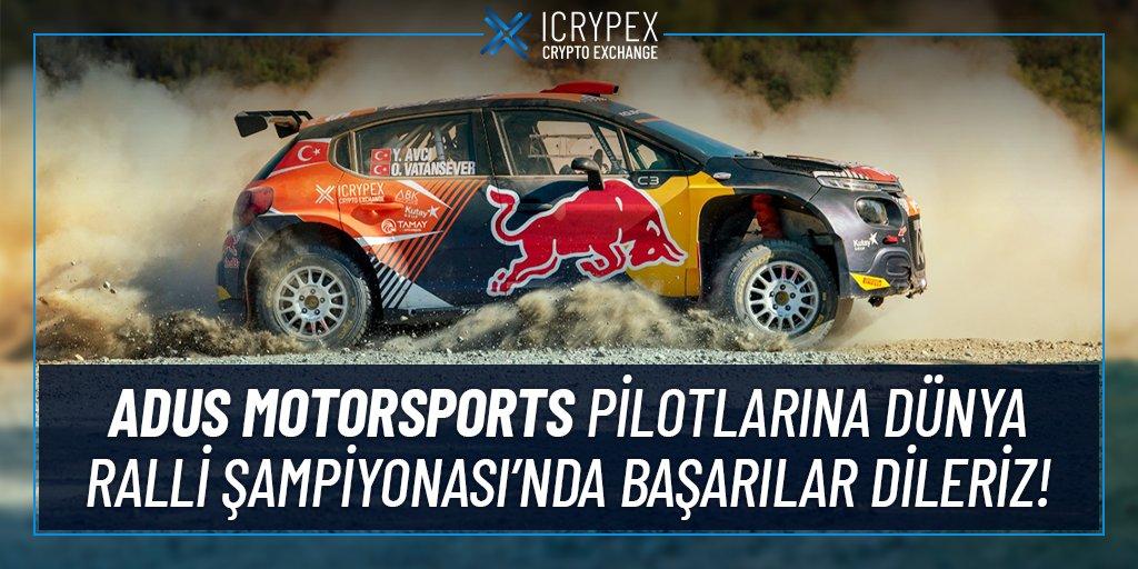 Dünya Ralli Şampiyonası'na Icrypex'in Sponsor Olduğu Adus Motorsports Katılıyor!