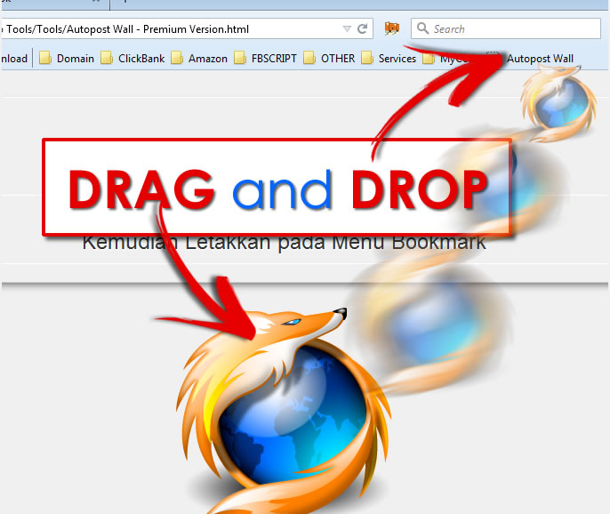 Drag and Drop Menu Bookmark