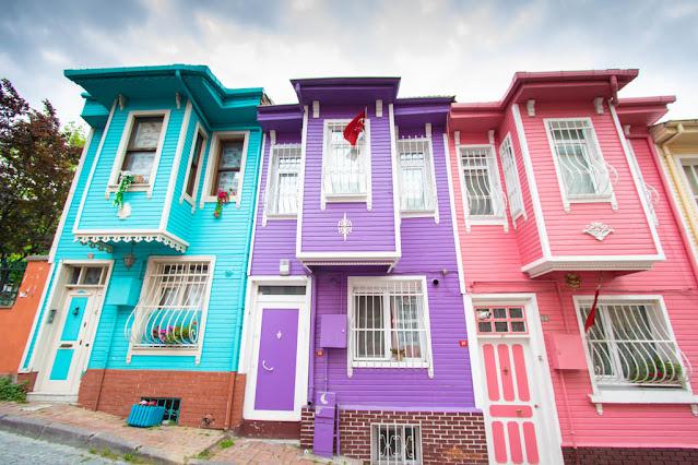 Case colorate-Quartieri di Fatih e Fener-Istanbul