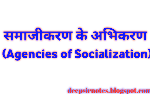 समाजीकरण के अभिकरण (Agencies of Socialization In Hindi)