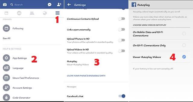 Cara mematikan Autoplay Video pada Aplikasi Facebook 2