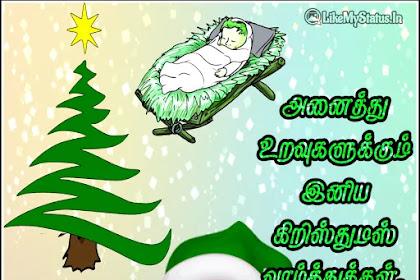 கிறிஸ்துமஸ் வாழ்த்துக்கள் | Christmas Wishes In Tamil