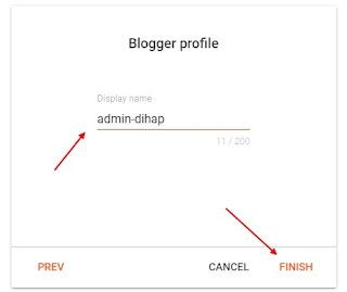 Membuat Nama Profil Blogger