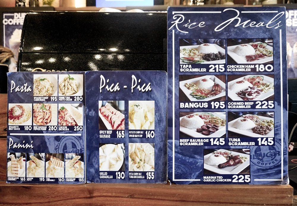 Blugré Coffee Iligan City Menu