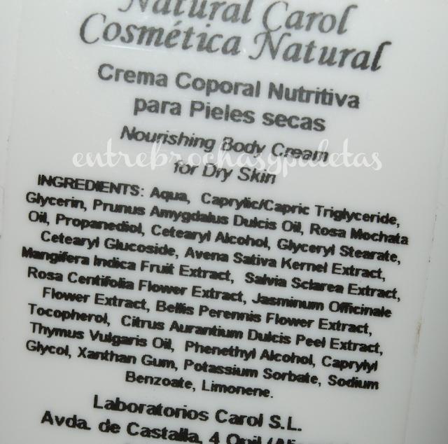 natural carol crema corporal