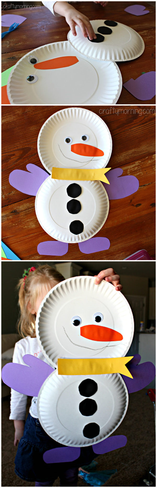 Cute paper plate snowman craft for kids flowcoast cute paper plate snowman craft for kids jeuxipadfo Gallery