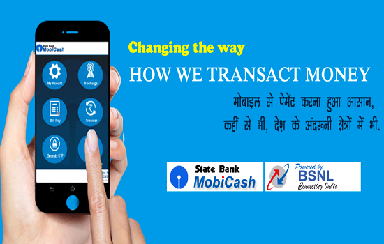 BSNL launches e-wallet App 'State Bank MobiCash' in association with SBI for both smartphone and feature phone users in all the circles
