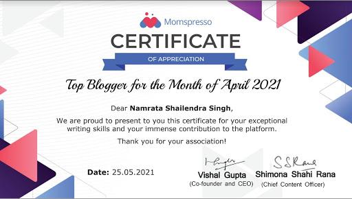 Top Blogger April 2021