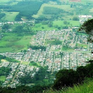 Sapiranga vista do alto do Morro Ferrabraz