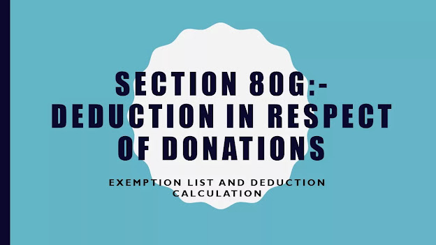 Section 80G of income tax act