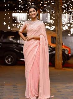 Priya Varrier Saree Pos 2