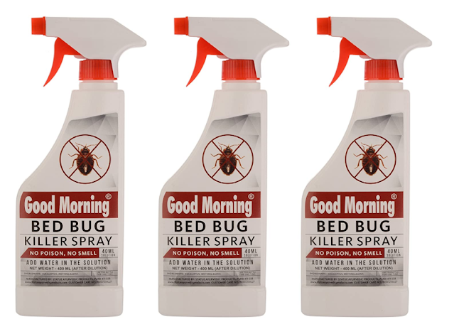 Good Morning Bed Bug Killer Spray, 40ml Concentrate (Pack of 3)