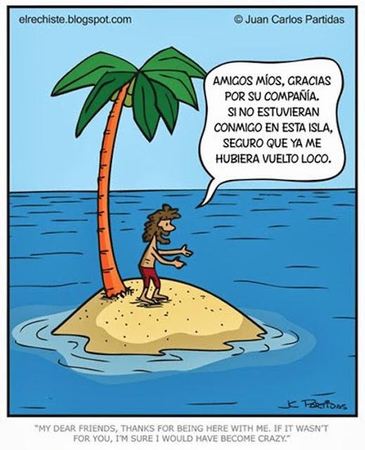 Meme de humor sobre Róbinson Crusoe