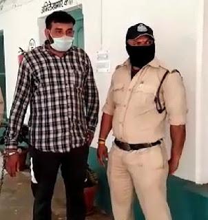 अवैध रूप से पिस्टल व कारतूस रखने वाला आरोपी पुलिस रिमांड का बाद पहुँचा जेल