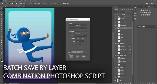 Batch Save by layer Combination Photoshop script