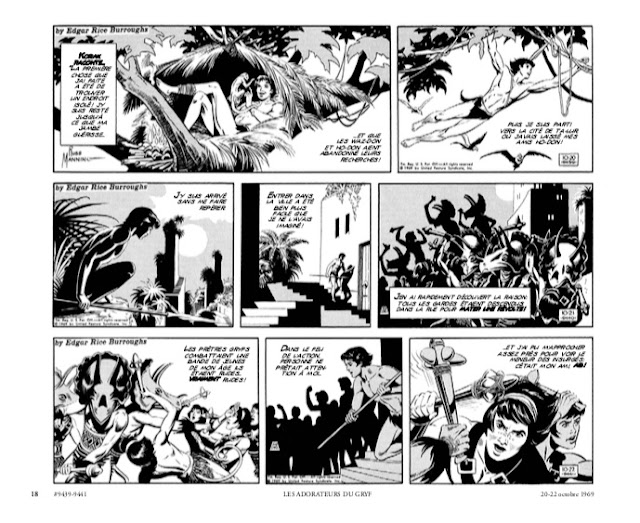 Tarzan : Intégrale Russ Manning Newspaper strips Volume Deux : 1969 - 1971 éditions Graph Zeppelin Page 18