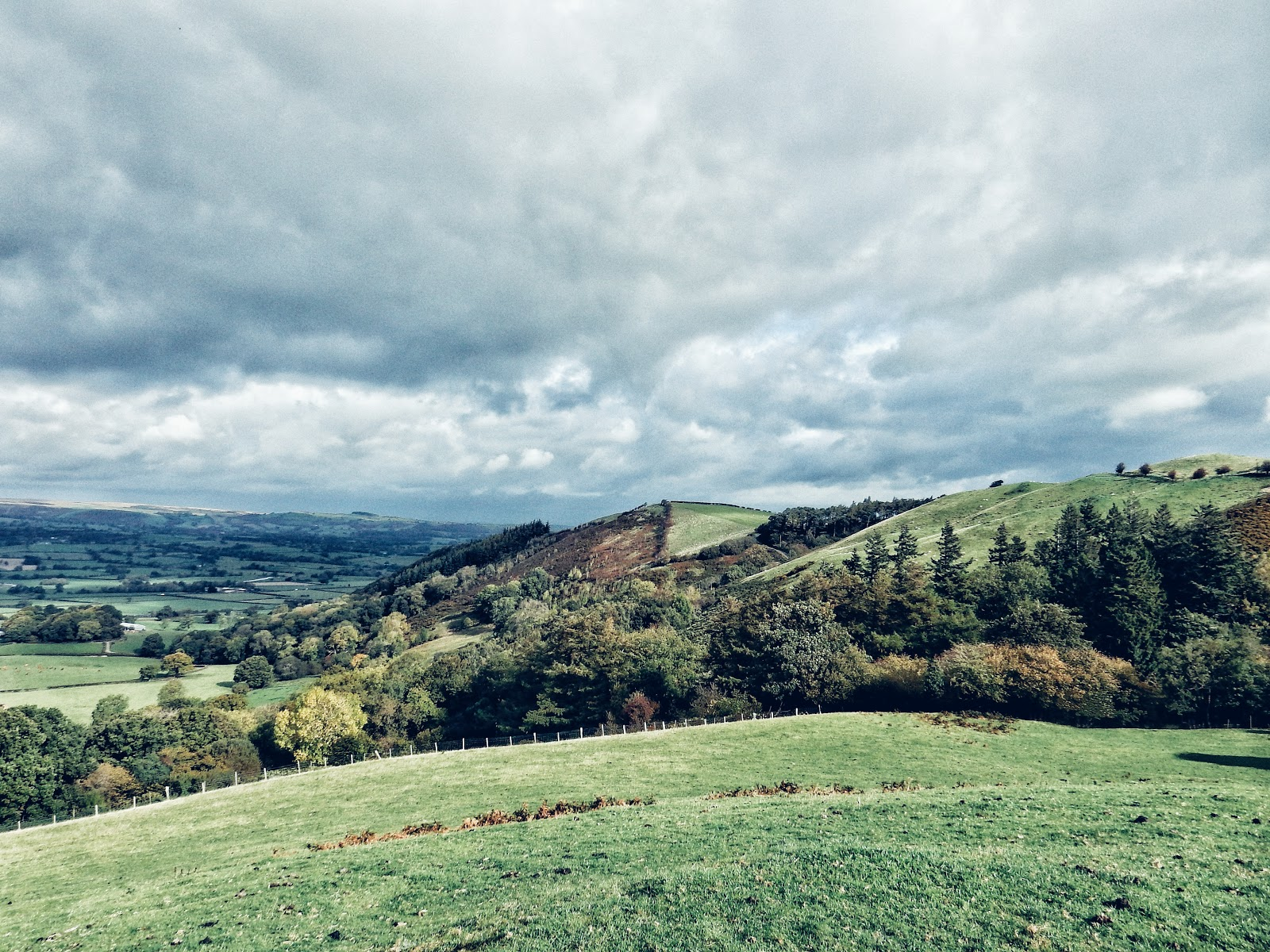 views of welsh countryside powys