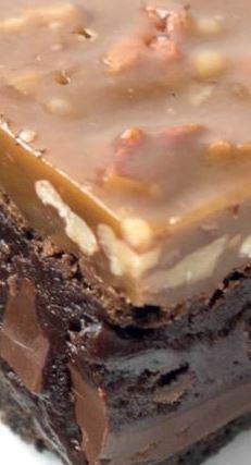 Fudgy Caramel Pecan Turtle Brownies