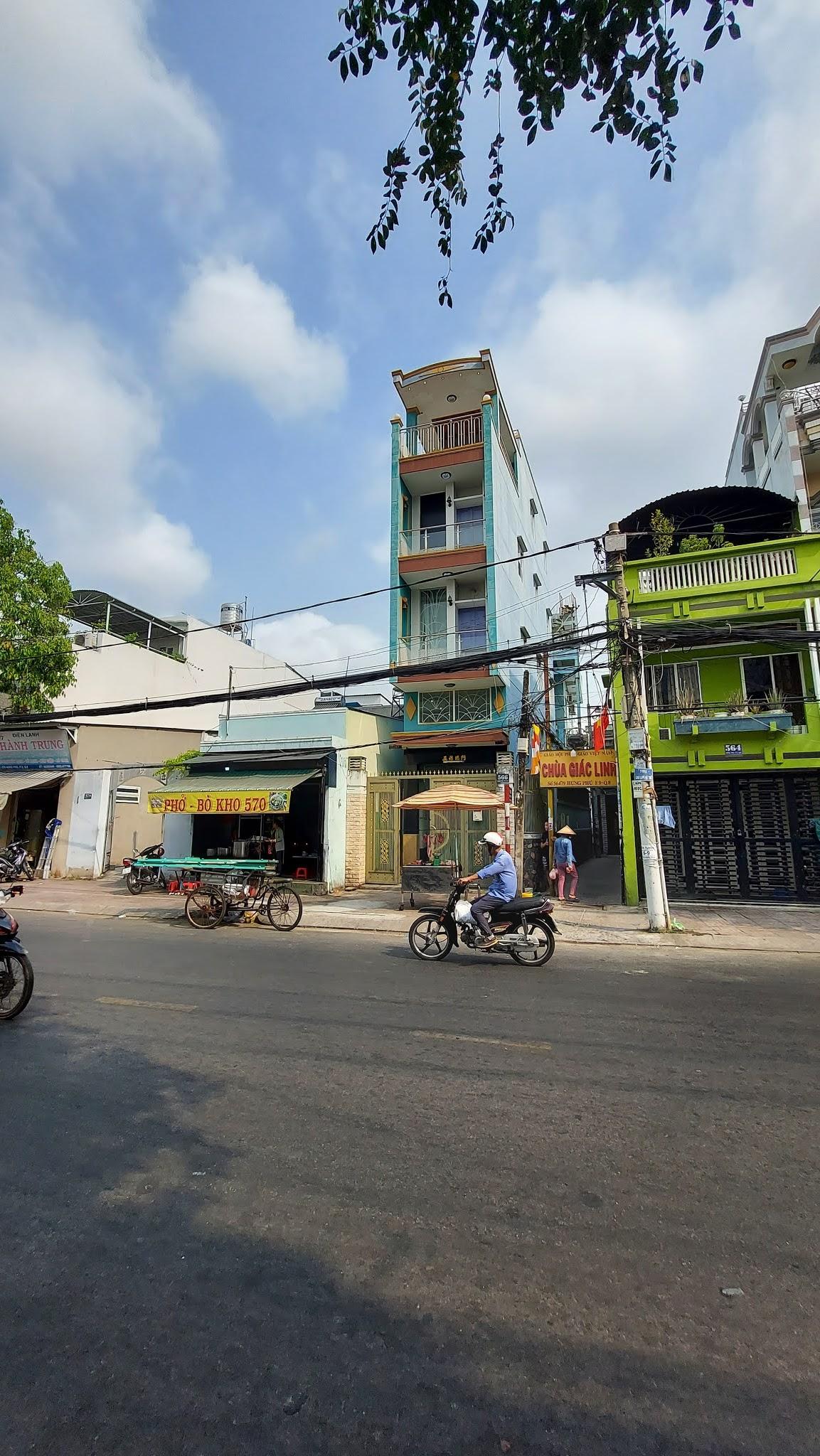 Bán nhà Mặt tiền Quận 8. Nhà lững 3 lầu đường Hưng Phú P9 Q8, gần cầu Nguyễn Tri Phương